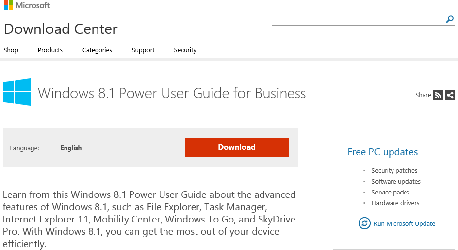 Windows 8.1 Power User Guide for Business