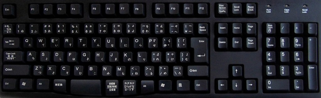 Japanese keyboard layout full